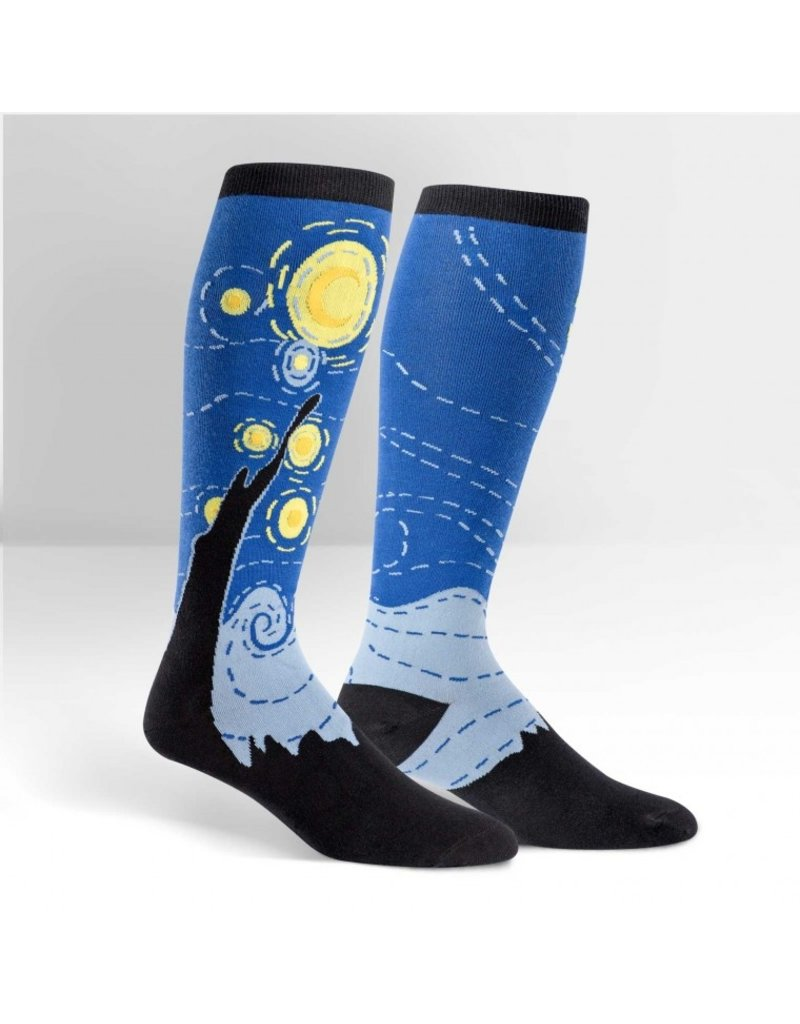 Sock It to Me Sock It to Me - Starry Night - Wide Calf - S0032 - Knee High - Unisex