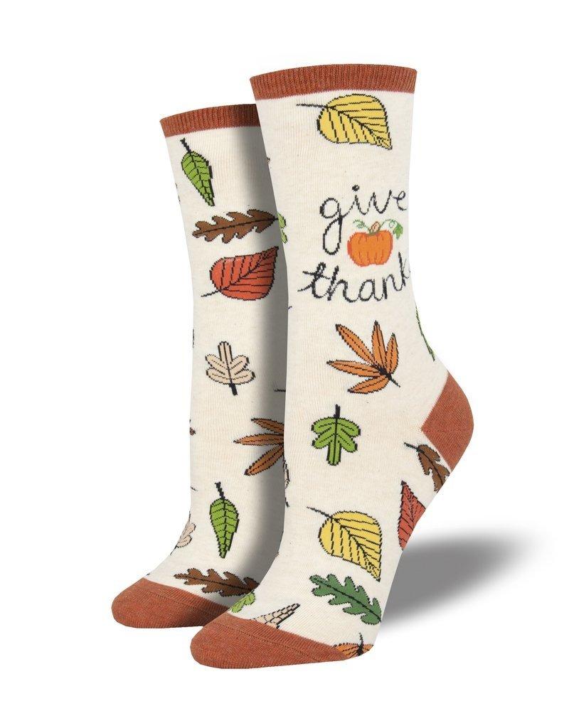Socksmith Socksmith - Give Thanks - Ivory Heather - WNC1877 - Crew - Women's