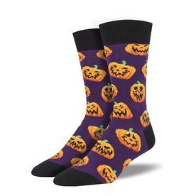 Socksmith Socksmith - Jack O'All Trades - Purple - MNC1846 - Crew - Men's