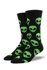 Socksmith Socksmith - We Come In Peace - Black - MNC1537 - Crew -  Men's