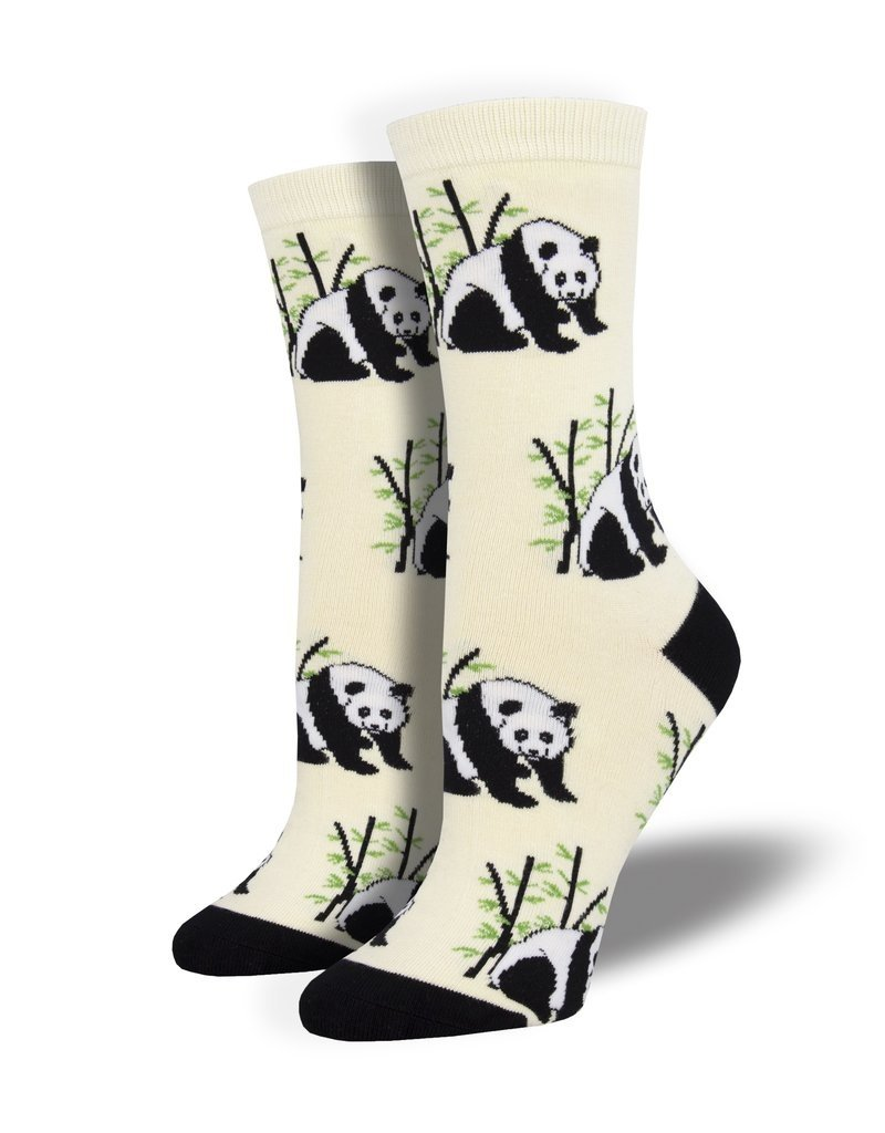 Socksmith Socksmith - Bamboo Panda Bear - Ivory - WBN1914 - Crew - Women's