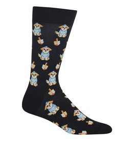 Hot Sox Hot Sox - Dreidel Dog - Black - HM100478 - Crew - Men's