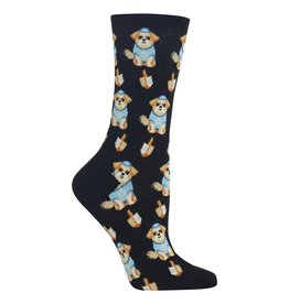 Hot Sox Hot Sox - Dreidel Dog - Black - HO002023 - Crew - Women's