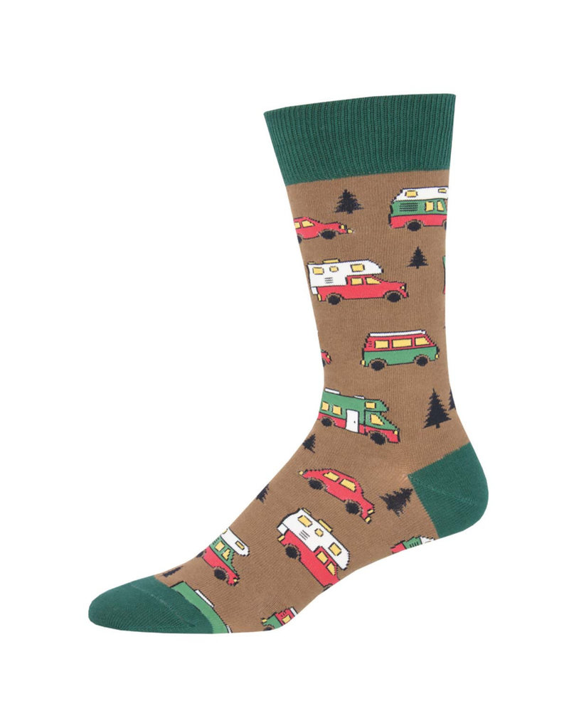 Socksmith Socksmith - Are We There Yet? - Brown - MNC1834 - Crew - Men's