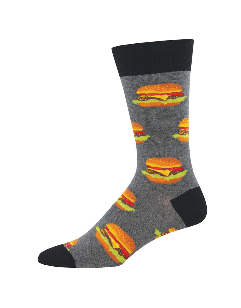 Socksmith Socksmith - King Size - Good Burger - Gray Heather - K-MNC1660 - Crew - Men's