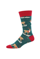 Socksmith Socksmith - Winter Reindeer - Green - MNC1644 - Crew - Men's