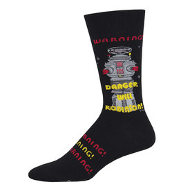 Socksmith Socksmith - Danger Will Robinson! - Black - MNC1961 - Crew - Men's