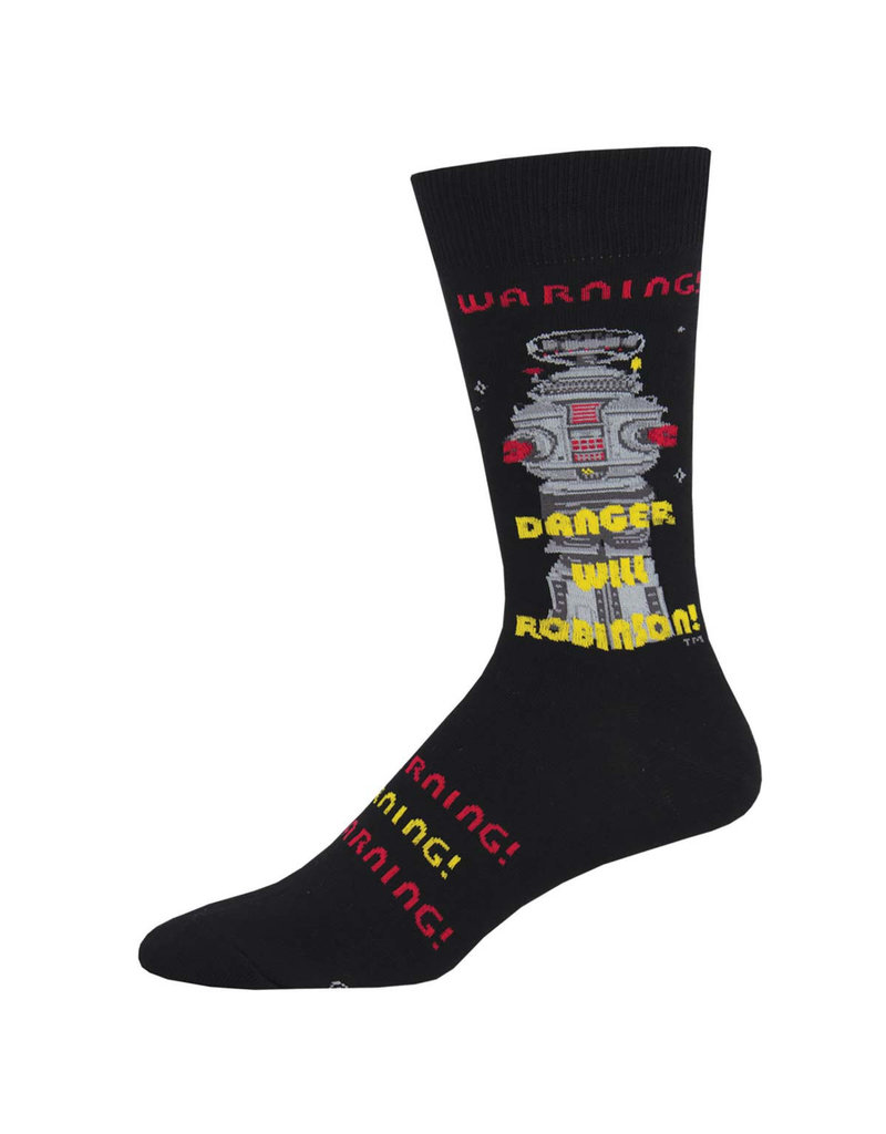 Socksmith Socksmith - Danger Will Robinson! - Black - MNC1961 - Crew - Men's