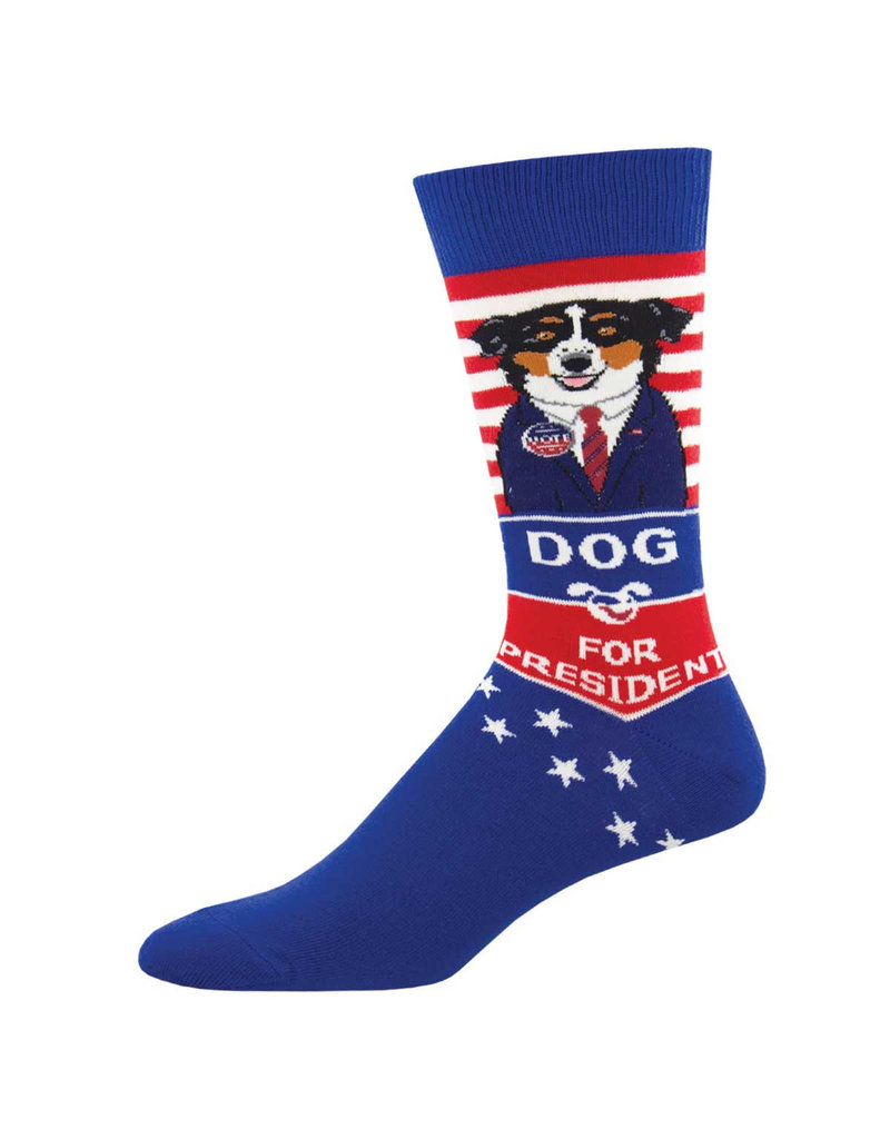 Socksmith Socksmith - Dog For President - Blue - MNC2039 - Crew -  Men's