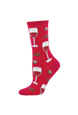 Socksmith Socksmith - Time To Wine Down - Berry - WNC1578 - Crew - Women's