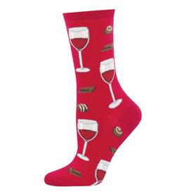Socksmith Socksmith - Time To Wine Down - Berry - WNC1578 - Crew - Women's