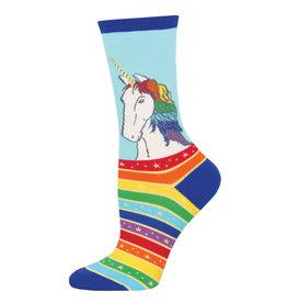 Socksmith Socksmith - Rainbow Hair Don't Care - Sky Blue - WNC1759 - Crew - Women's