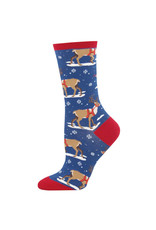Socksmith Socksmith - Winter Reindeer - Blue - WNC1607 - Crew - Women's