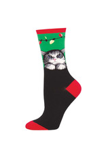 Socksmith Socksmith - Purrty Lights - Green - WNC1892 - Crew - Women's