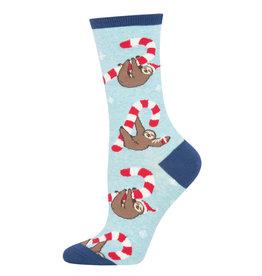 Socksmith Socksmith - Merry Slothmas - Blue Heather - WNC1885 - Crew - Women's