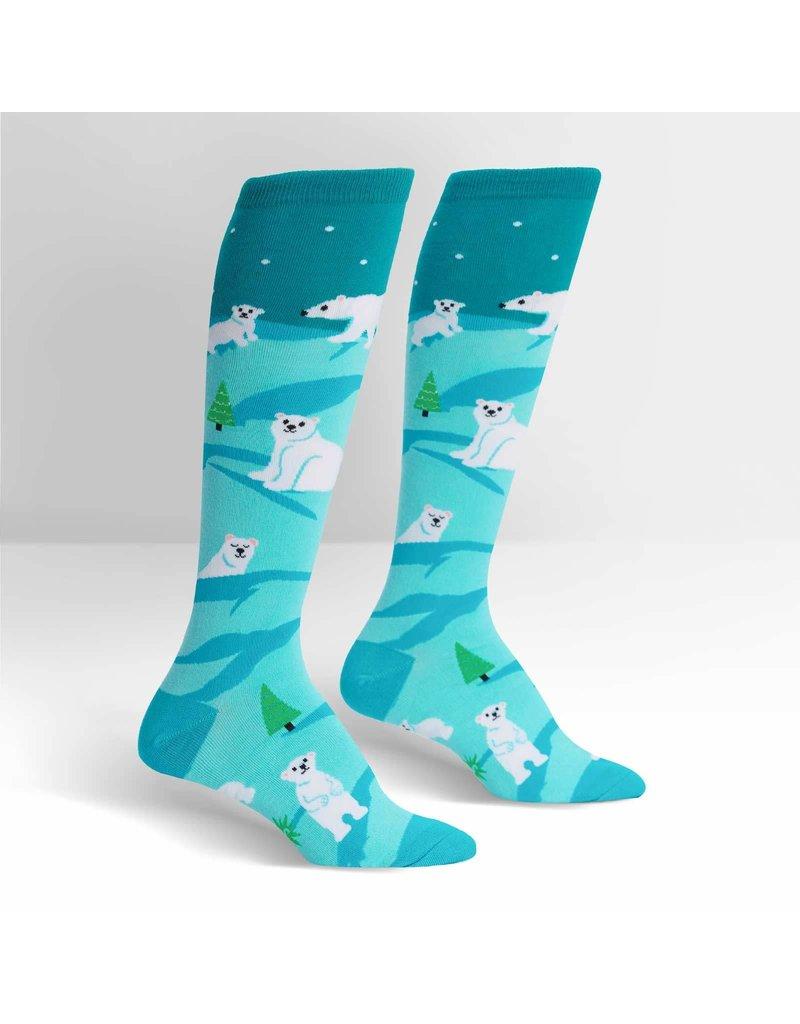 Sock It to Me Sock It to Me - Polar Bear Stare - F0451 - Knee High - Unisex