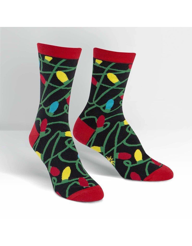 Sock It to Me Sock It to Me - Tangled Lights - W0085 - Crew - Women's