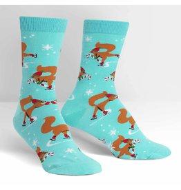 Sock It to Me Sock It To Me - Peppermint Squirrels - W0155 - Crew - Women's