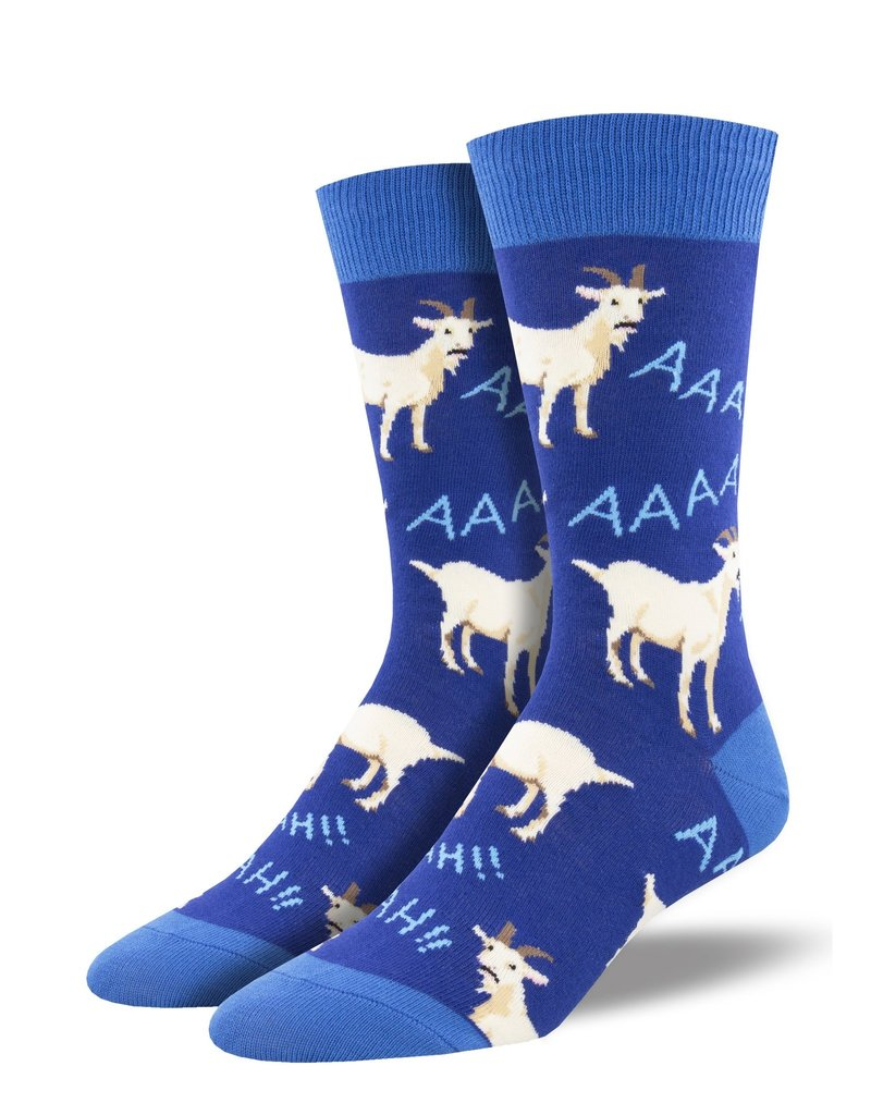 Socksmith Socksmith - Screaming Goats - Blue - MNC1990 - Crew - Men's