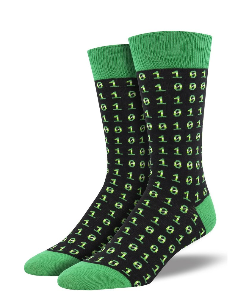Socksmith Socksmith - Binary Code - Black - MNC2004 - Crew - Men's
