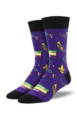 Socksmith Socksmith - Mardi Gras - Purple - MNC2000 - Crew - Men's