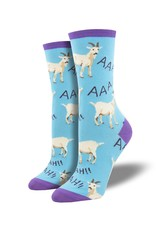 Socksmith Socksmith - Screaming Goats - Blue - WNC2014 - Crew - Women's