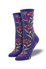 Socksmith Socksmith - Wildflowers - Purple - WNC2048 - Crew - Women's
