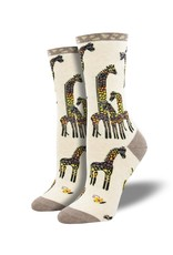 Socksmith Socksmith - Giraffe Family - Ivory Heather - WNC2088 - Crew - Women's