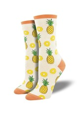Socksmith Socksmith - Partial to Pineapples - Ivory Heather - WNC2016 - Crew - Women's