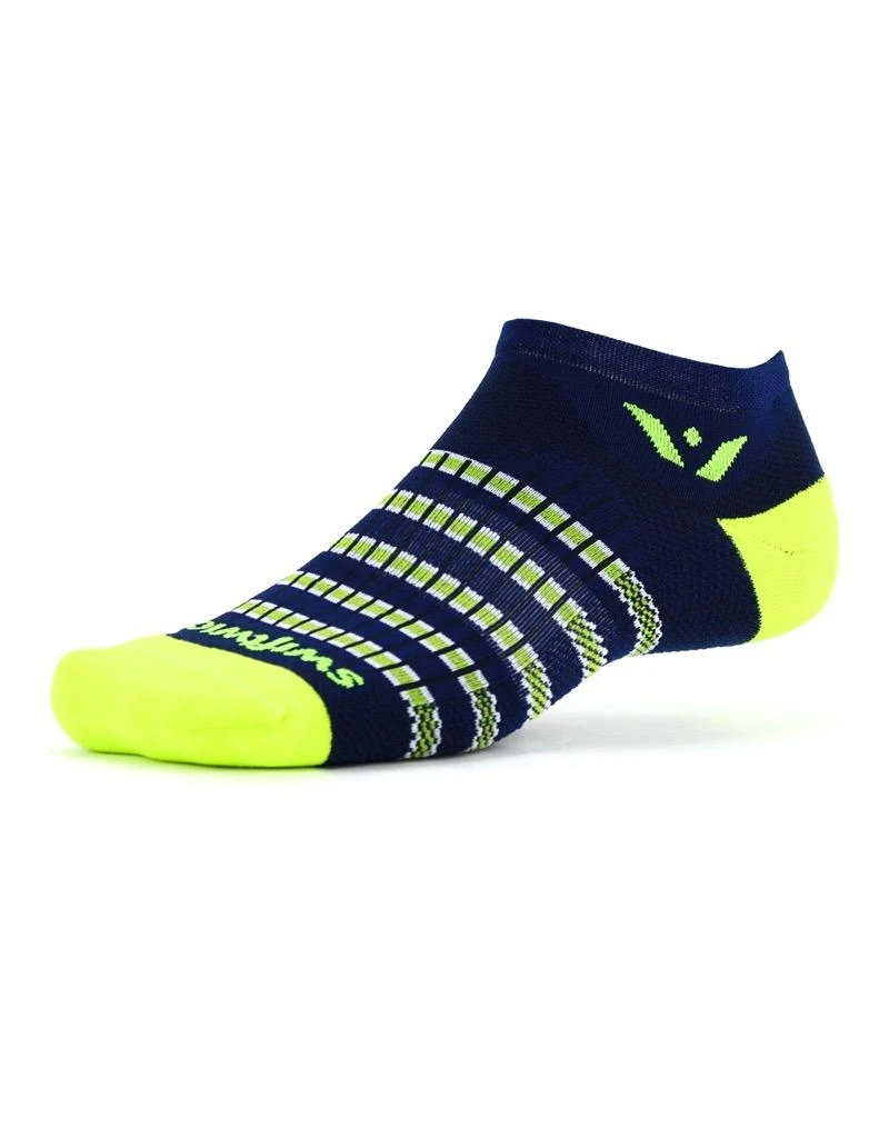 Swiftwick Swiftwick - Aspire - ZERO - Navy/Citron Stripe