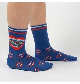 Sock It to Me Sock It to Me - I'm Voting  - W0317 - Crew  - Women's