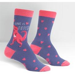 Sock It to Me Sock It to Me - Love is Fierce - W0222 - Crew  - Women's