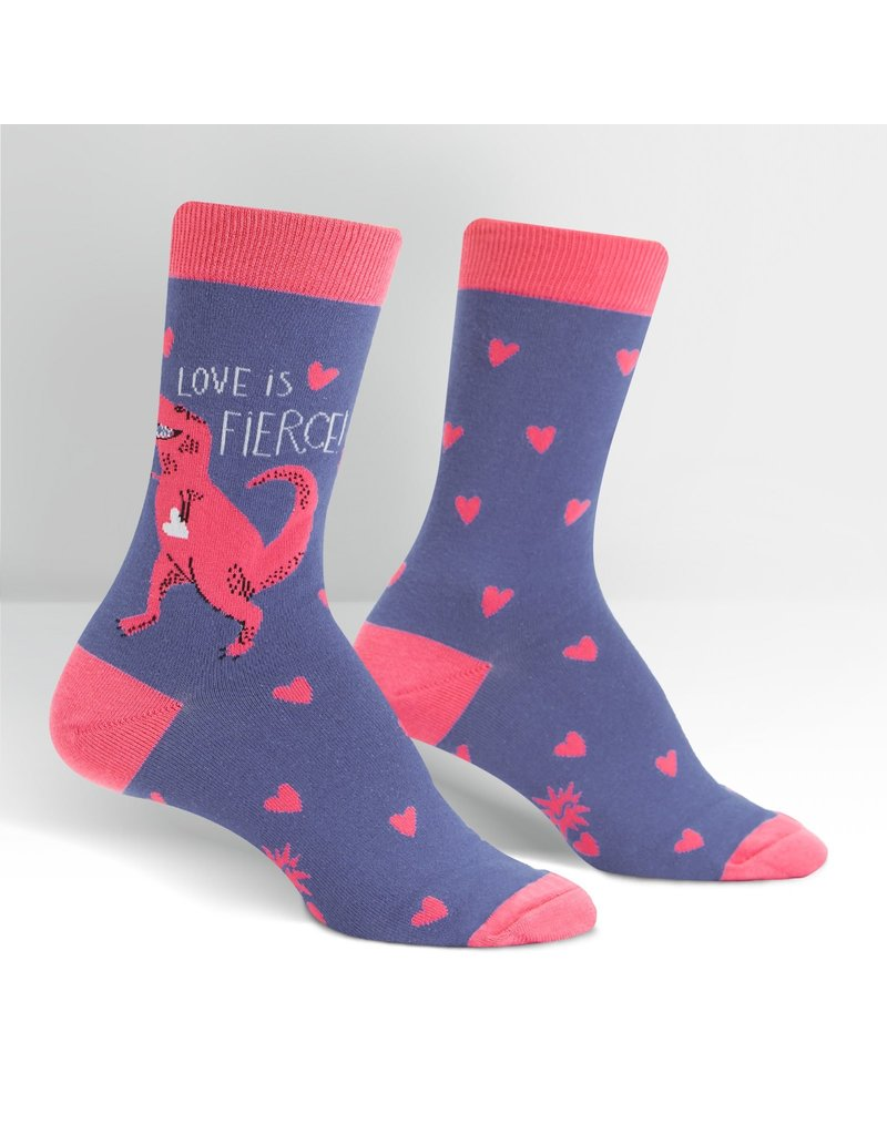 Sock It to Me Sock It to Me - Love is Fierce - W0222 - Crew  - Women's