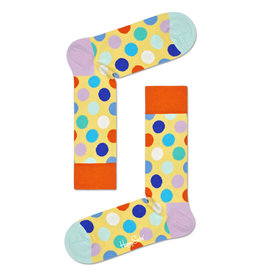 Happy Socks - Big Dot - BDO01-2201-720 - Yellow Multi - Men's