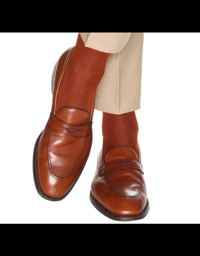 Dapper Classics Dapper Classics - Whiskey Brown Solid Ribbed - Cotton - OTC