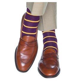 Dapper Classics Dapper Classics - Royal Purple with Yolk Stripe - Cotton - OTC