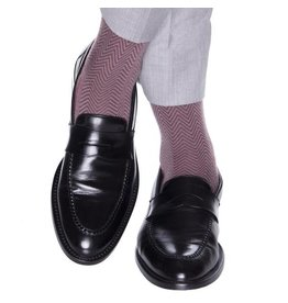 Dapper Classics Dapper Classics - Burgundy with Mercury Grey Chevron - Merino Wool - OTC