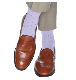 Dapper Classics Dapper Classics - Lavender with Royal Purple Pin Dot - Cotton - OTC