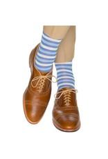 Dapper Classics Dapper Classics - Azure Blue with Ceramic Dots and Sky Blue/Vanilla Stripe - Cotton - OTC
