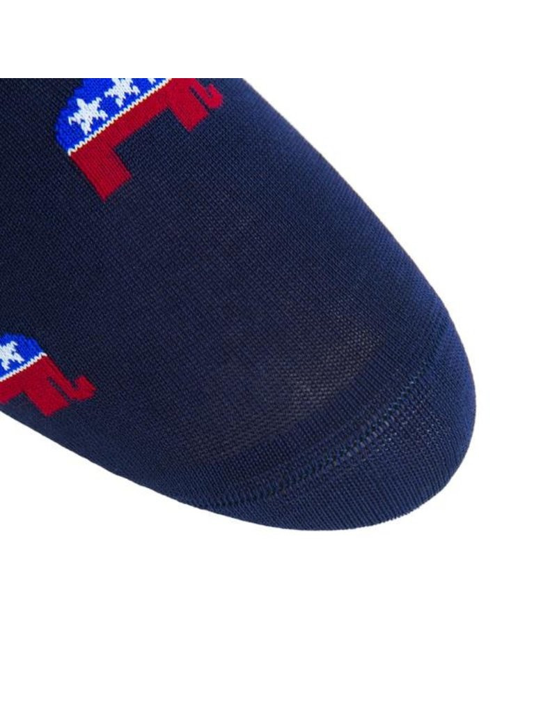 Dapper Classics Dapper Classics - Classic Navy/Red/White/Clematis Blue Elephant with American Flag - Cotton - OTC