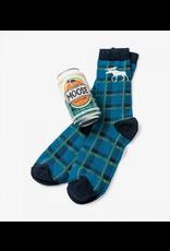 Little Blue House Little Blue House - Loose Moose - Beer Can Sock - Men's