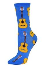 Socksmith Socksmith - Guitars - Cornflower Blue - SSW1192 - Crew - Women's