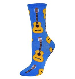 Socksmith Socksmith - Guitars - Cornflower Blue - SSW1192 - Crew - Women's