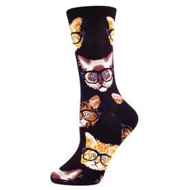 Socksmith Socksmith - Kittenster - Black/Brown - SSW1306 - Crew - Women's