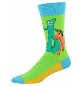 Socksmith Socksmith - Gumby And Pokey - Lime - MNC874 - Crew - Men's