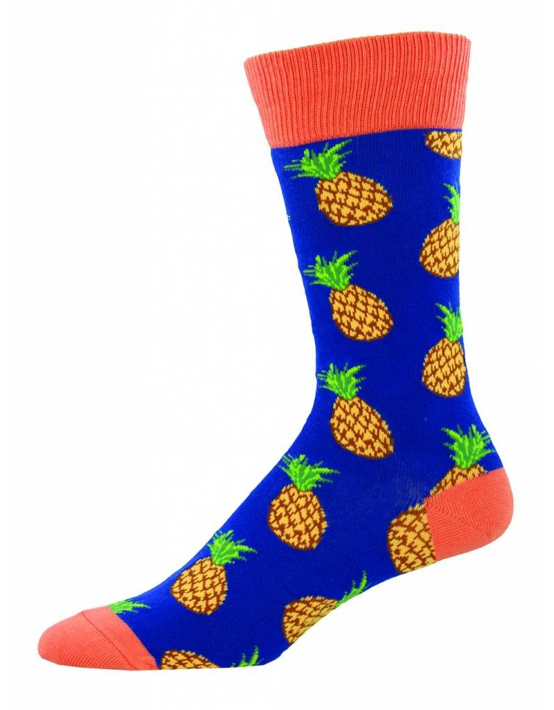 Socksmith Socksmith - Many Pineapples - Navy - MNC806 - Crew - Men's