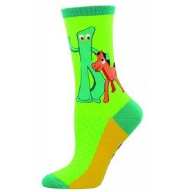 Socksmith Socksmith - Gumby And Pokey - Lime - WNC870 - Crew - Women's