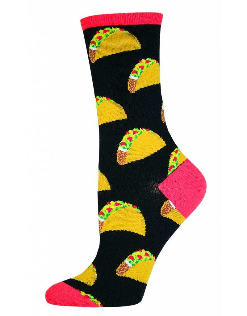 Socksmith Socksmith - Tacos - Black - WNC491 - Crew - Women's