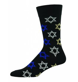 Socksmith Socksmith - Star Of David - Black - MNC689 - Crew - Men's
