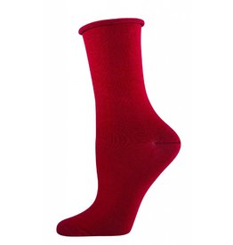 Socksmith Socksmith - Bamboo Comfort Solid - Crimson - WBC1 - Crew - Women's